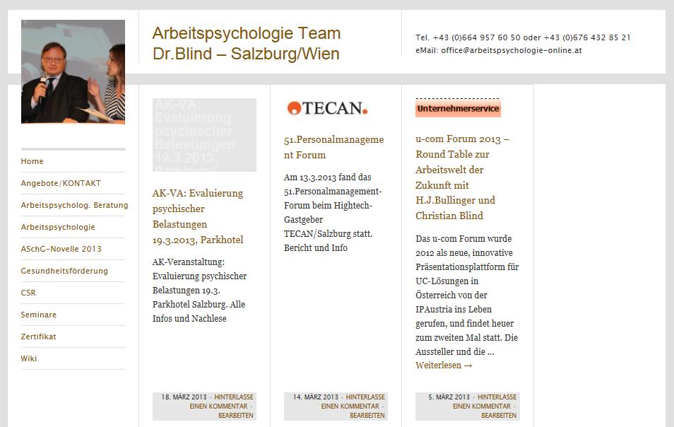 Arbeitspsychologie Salzburg
